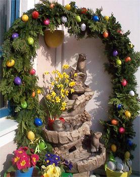 Allemagne d corations de p ques gastronomie recettes de cuisine et traditions en europe - Decoration paques vitrine ...