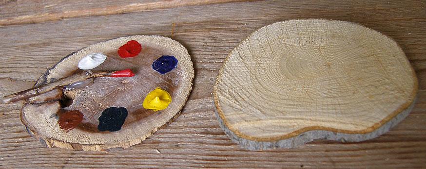 bricolage de noel boules de noel en bois rondelles de noel en bois gastronomie recettes de. Black Bedroom Furniture Sets. Home Design Ideas