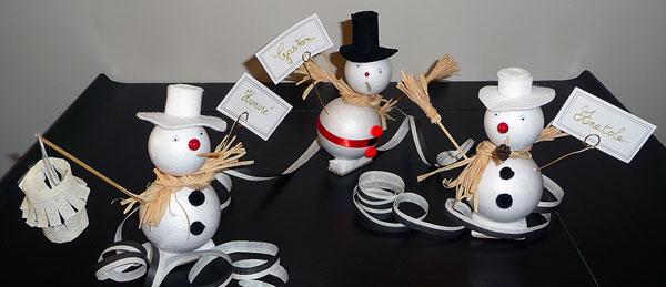 Realiser un bonhomme de neige marque place avec du polystyrene gastronomie recettes de cuisine - Comment faire un bonhomme de neige en papier ...