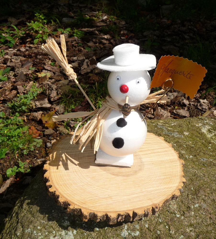 realiser un bonhomme de neige marque place avec du polystyrene gastronomie recettes de cuisine. Black Bedroom Furniture Sets. Home Design Ideas