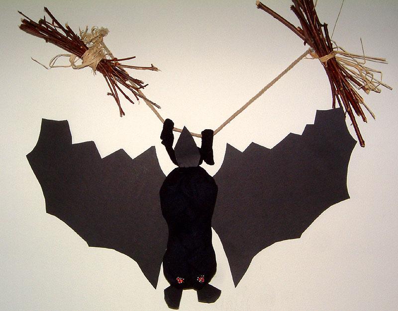 Decoration pour l 39 halloween r aliser une chauve souris - Deco halloween chauve souris ...