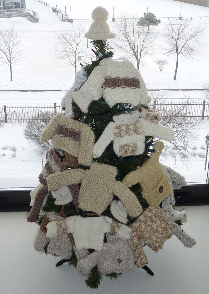 deco sapin tricot