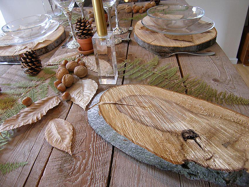 Table de no l rustique france gastronomie recettes de - Decoration de noel a fabriquer en bois ...