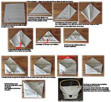comment plier des serviettes de table en papier facile. Black Bedroom Furniture Sets. Home Design Ideas