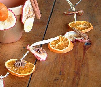 guirlande noel orange