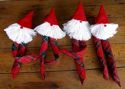 lutin ou gnome de Noël ronds de serviette pour décorer vos tables ...