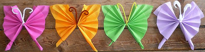 Pliage De Serviette En Papier En Forme De Papillon Pliage En Papier
