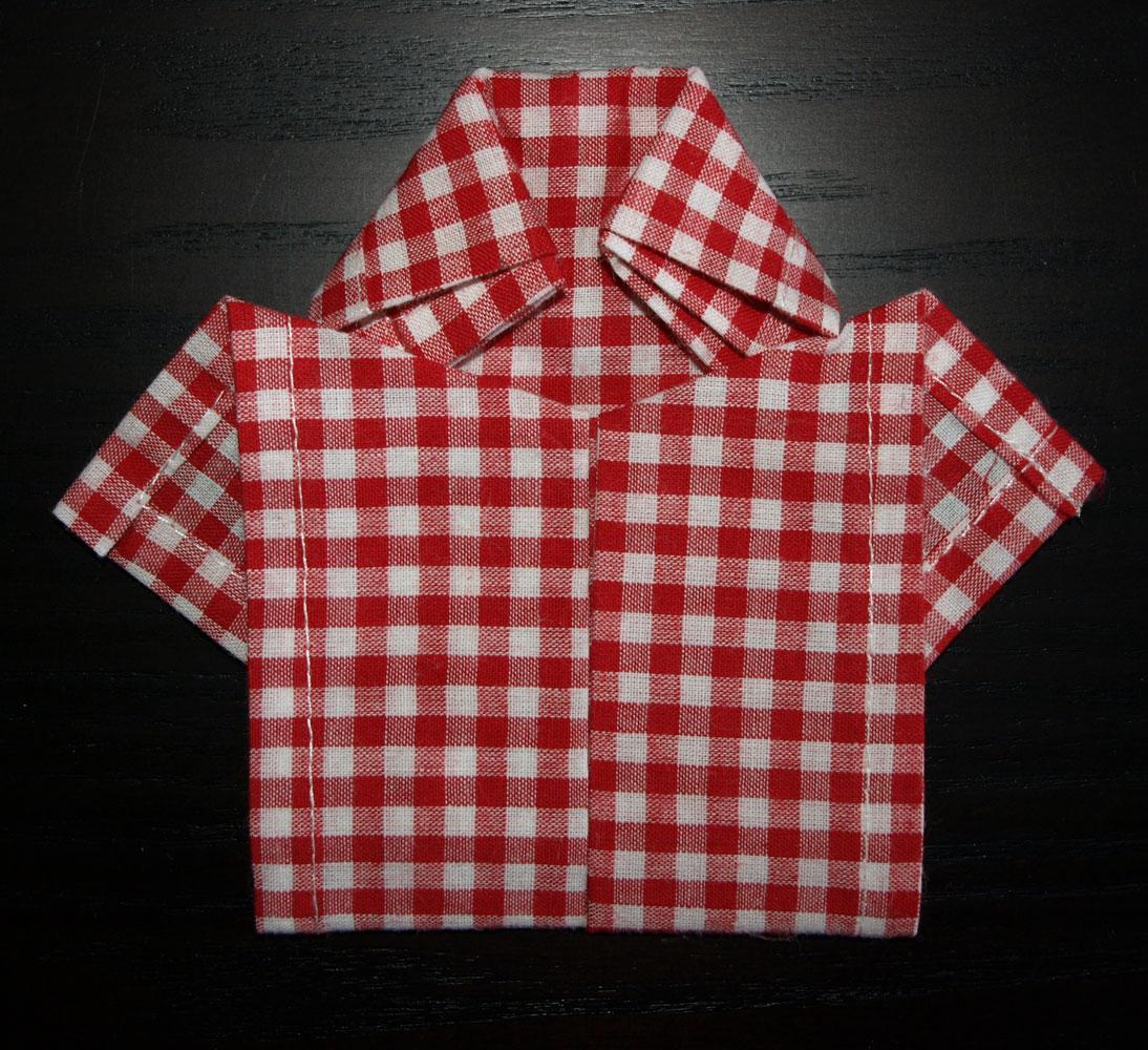 Pliage en papier r aliser une chemise ou chemisette - Pliage de serviette de table en tissu ...
