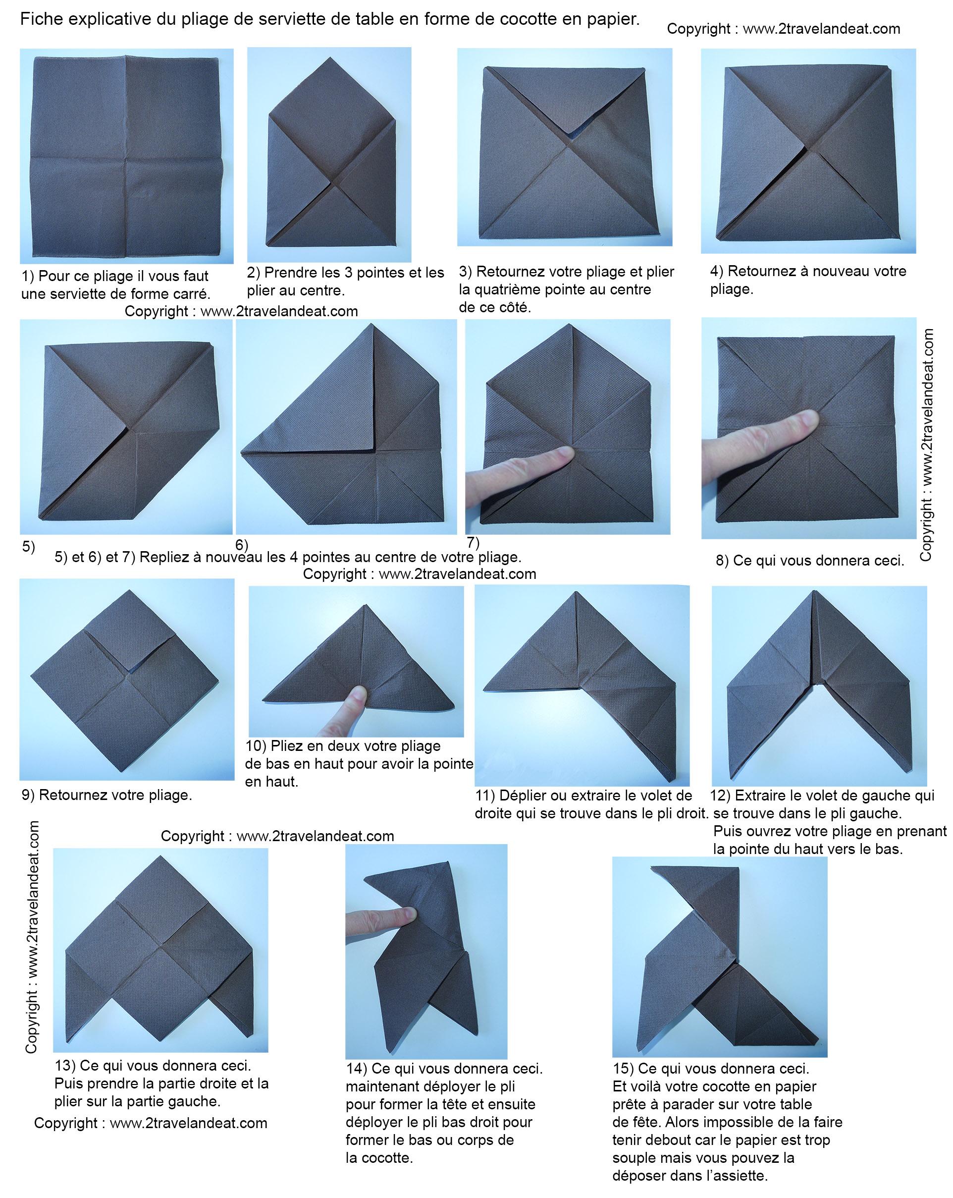 Fabuleux Comment Plier Une Serviette En Papier - Fashion Designs HB16