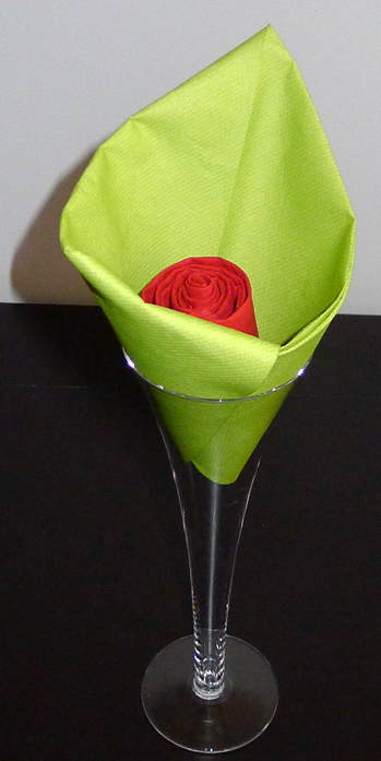 Pliage De Serviette De Table En Forme De Fleur En Forme D