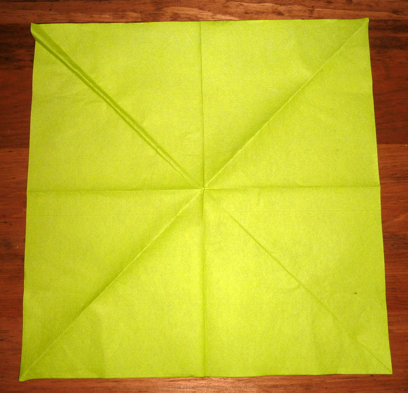 de lotus 2 couleurs pliage serviette en papier fleur de lotus 2 MEMES