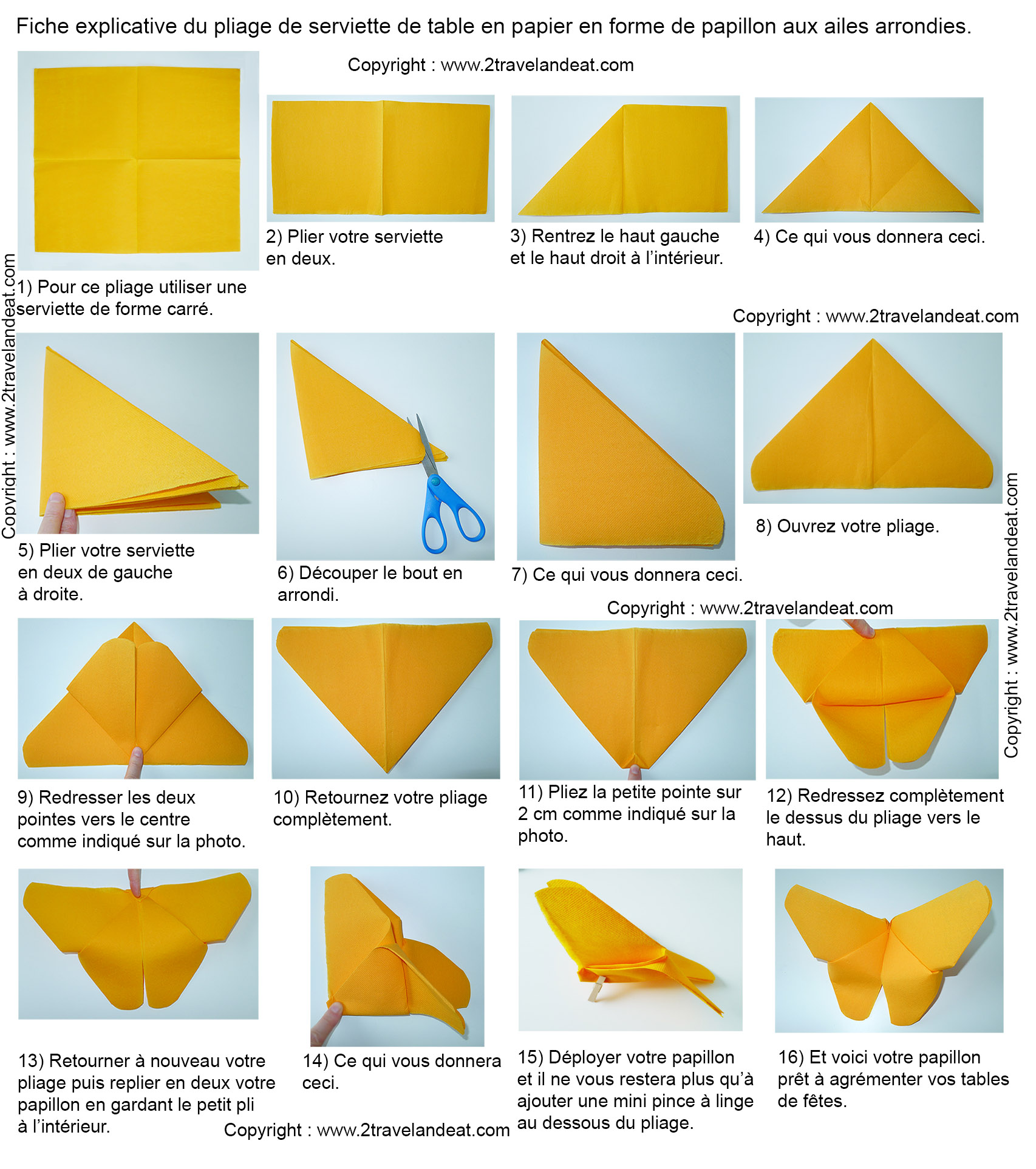 Pliage de serviettes de table en papier pliage de papier origami deocratio - Pliage origami simple ...