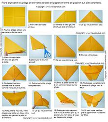 Pliage De Serviettes De Table En Papier Pliage De Papier Origami