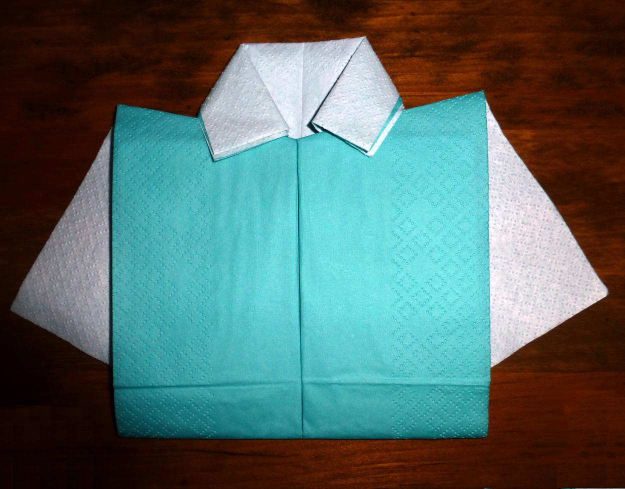 pliage en papier r u00e9aliser une chemise ou chemisette