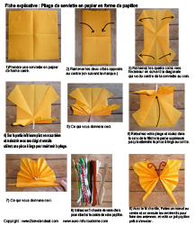 pliage de serviette en papier en forme de papillon pliage en papier d 39 un papillon origami. Black Bedroom Furniture Sets. Home Design Ideas