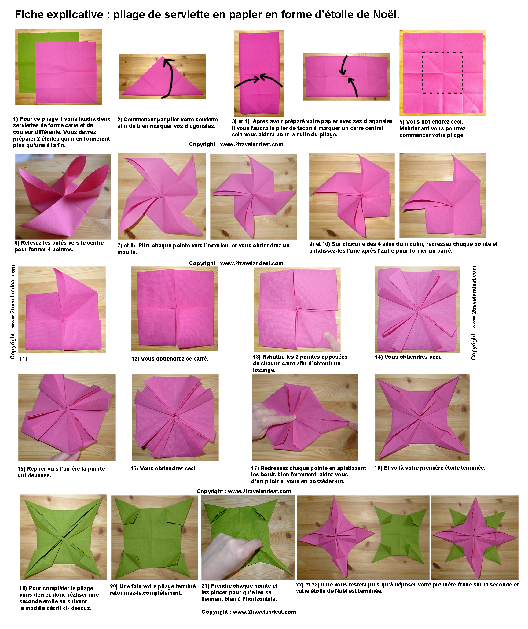 Pliage De Serviette De Table En Forme Détoile Etoile En Papier