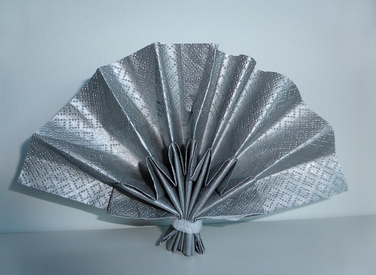 Populaire Pliage en papier réaliser un éventail double plis ,pliage de  AS67