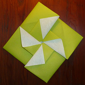 Pliage serviette papier gratuit - Origami serviette de table ...