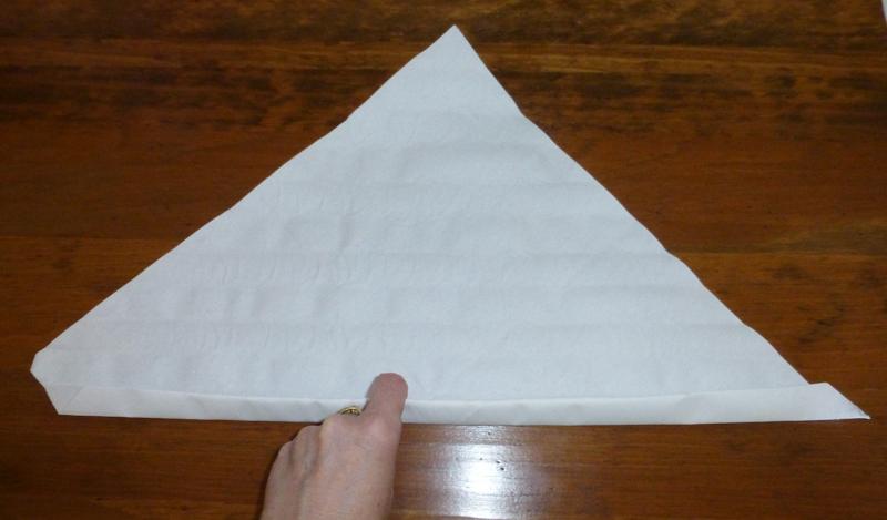 Pliage de serviette de table en forme d 39 oeuf origami oeuf for Largeur d une table