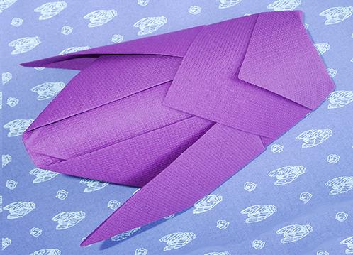 Pliage de serviette de table en forme de cigale r aliser une cigale avec une - Pliage avec deux serviettes en papier ...