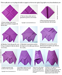Pliage de serviettes de table en papier pliage de papier origami deocration de table plier - Decoration avec papier ...