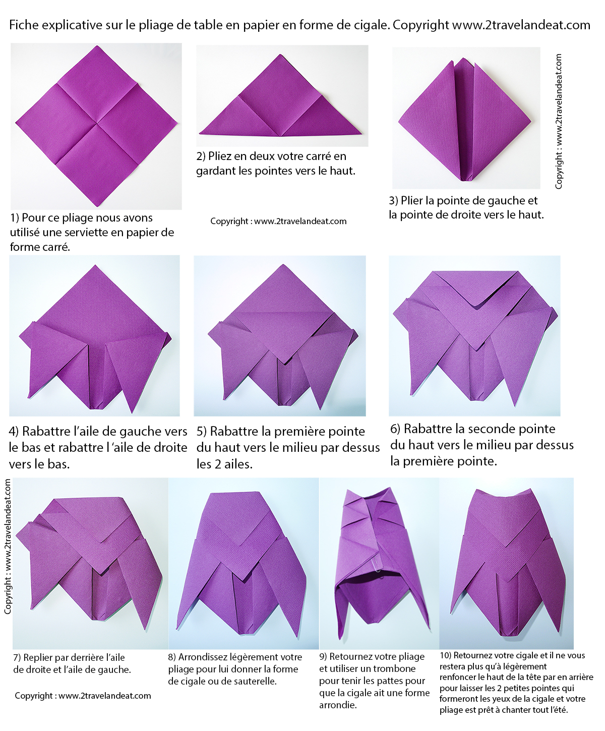 Pliage de serviettes de table en papier pliage de papier - Pliage de serviettes de table en papier ...