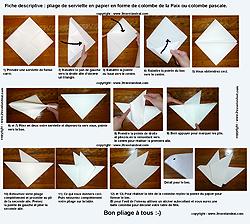 Pliage de serviettes de table en papier pliage de papier origami deocratio - L art de plier les serviettes de table ...
