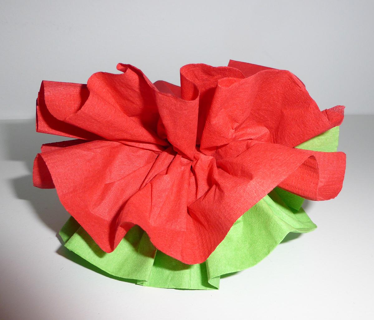 pliage de serviette de table en forme de fleur de pivoine. Black Bedroom Furniture Sets. Home Design Ideas
