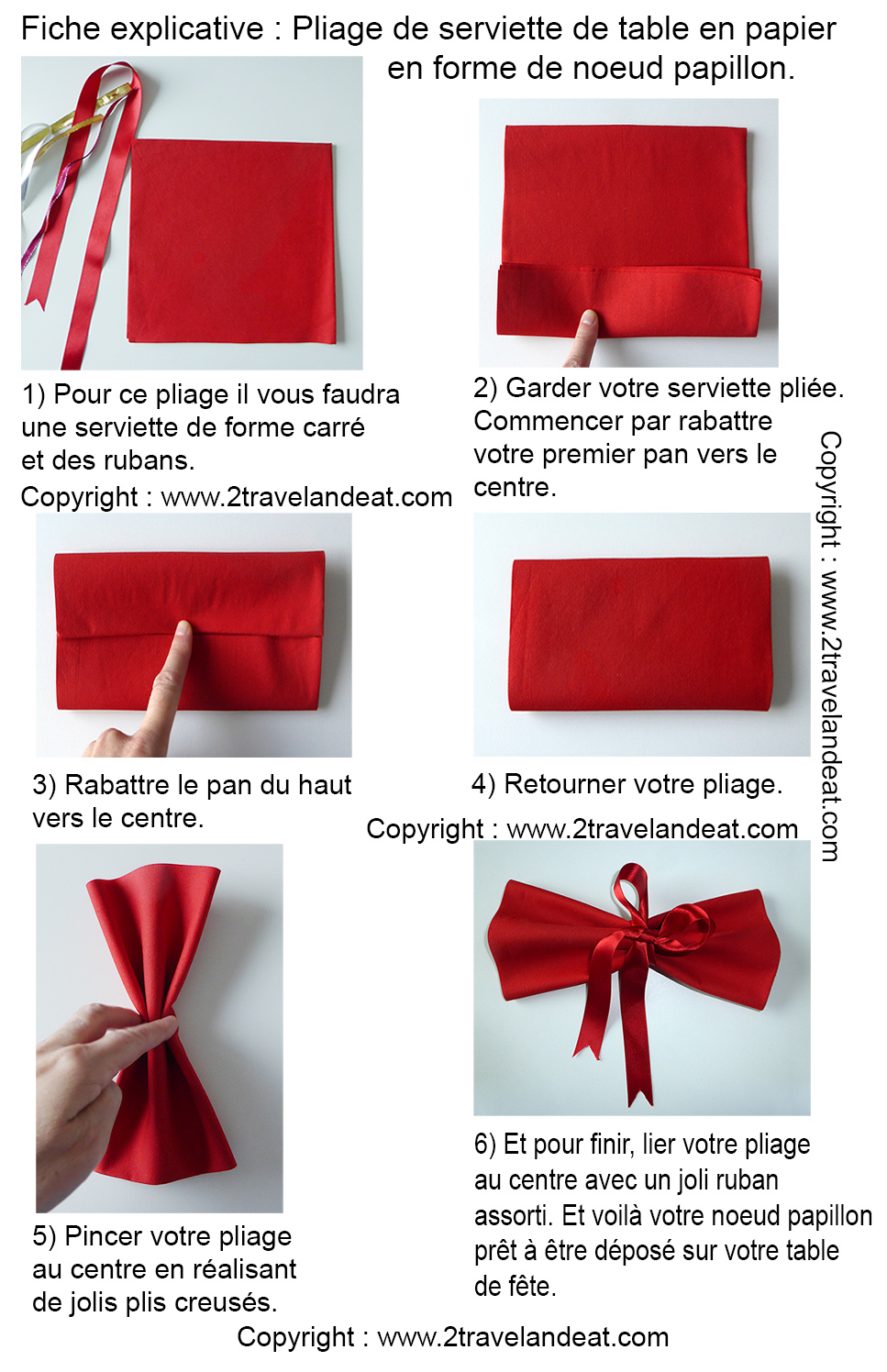 Pliage de serviettes de table en papier pliage de papier origami deocration de table plier - Pliage serviette de table ...