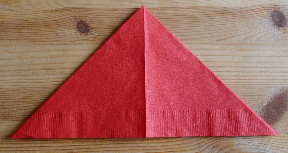 Pliage En Papier Réaliser Un Poinsettia Avec Une Serviette En Papier