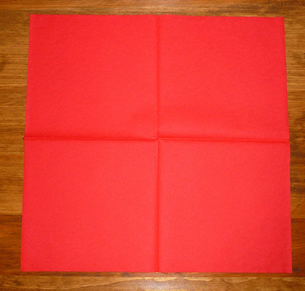 Pliage de serviette de table en forme de sapin de no l - Sapin en serviette en papier ...