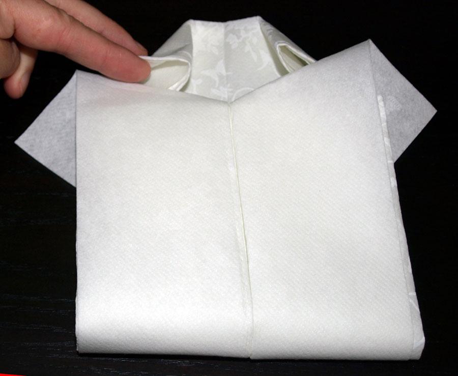 Pliage en papier r aliser une chemise ou chemisette pliage de serviette de t - Pliage serviette chemise ...
