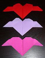 Decorations de noel pliages en papier deco faire soi meme bricolage decorat - Serviette pliage coeur ...