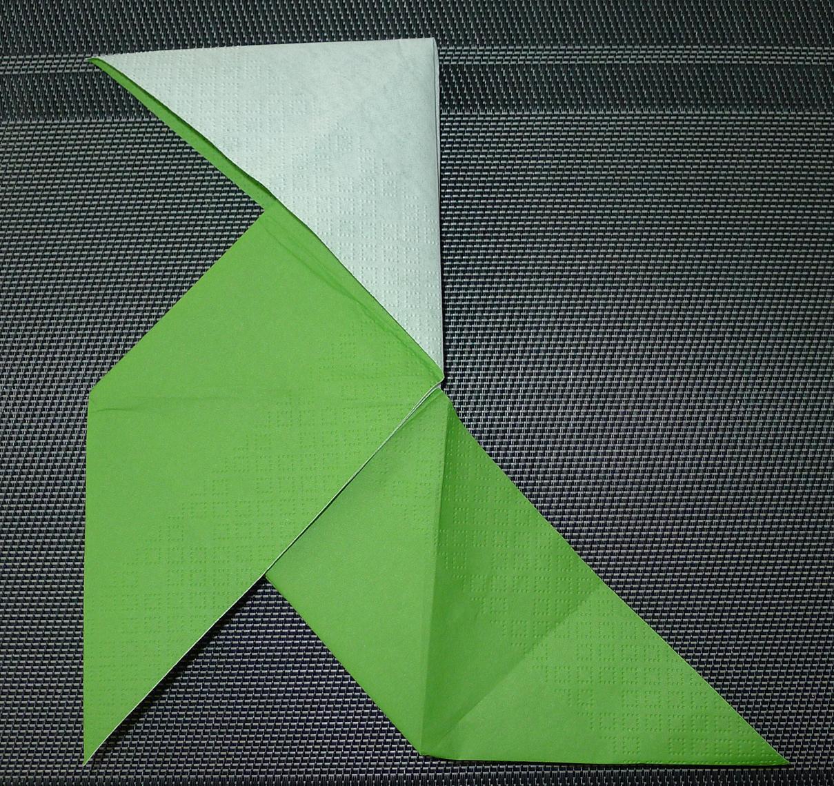 poule en origami facile amazing retourne le pliage plie. Black Bedroom Furniture Sets. Home Design Ideas