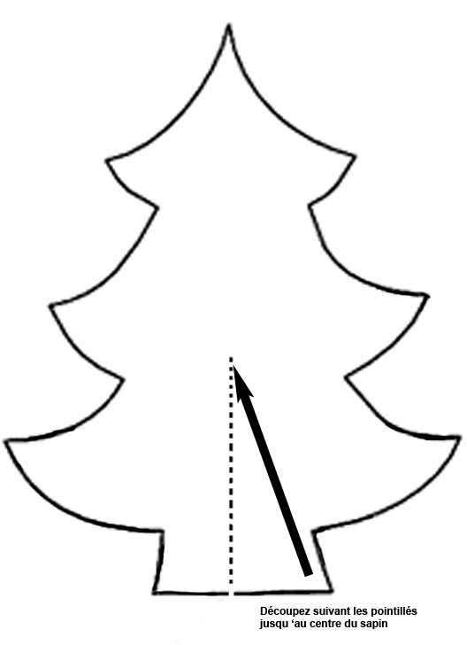 Ordinary modele sapin de noel a decouper 5 patron de - Modele de sapin ...