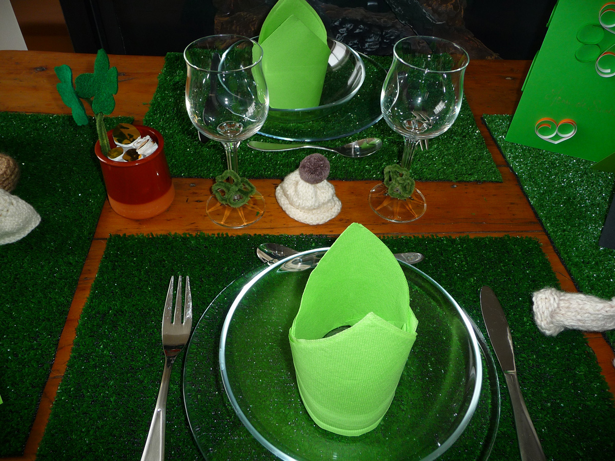 Table de saint patrick menu de saint patrick gastronomie for Decoration saint patrick