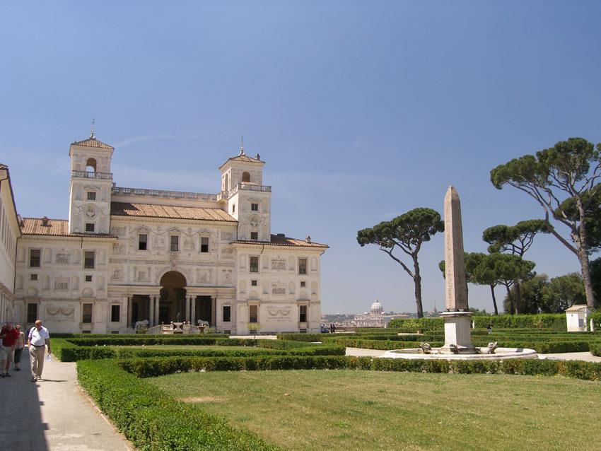 Visite de rome la villa medicis les marches espagnoles for Jardin villa medicis rome